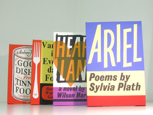 Four Faber and Faber Books as Canvases